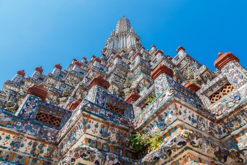 Wat Arun - templet av gryning i Bangkok arkivbild