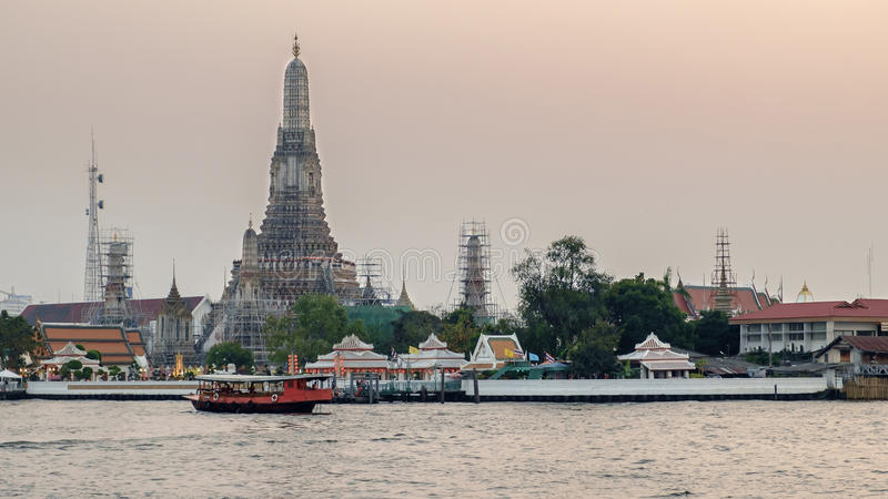 Wat arun, Thai temple stock images