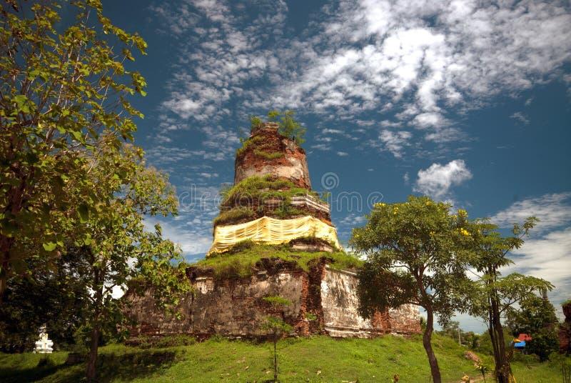 Wat Ayothaya старая цивилизация Сиама Ayutthaya стоковое фото rf