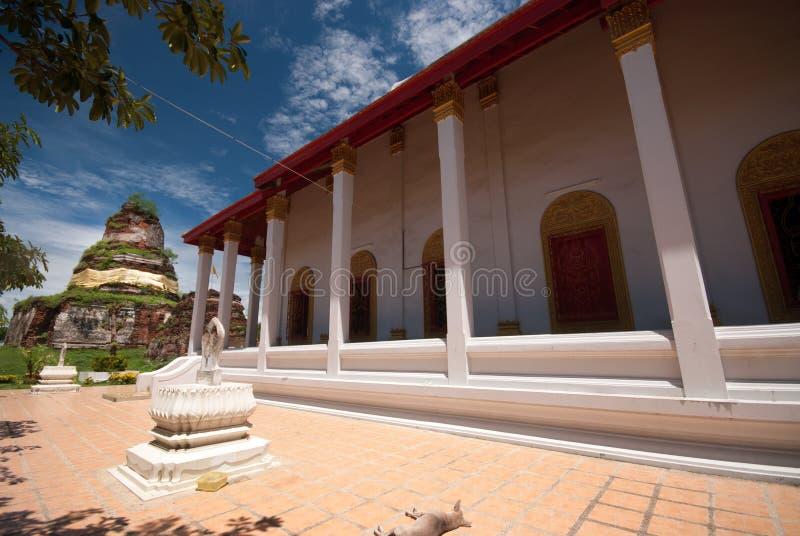Wat Ayothaya старая цивилизация Сиама Ayutthaya стоковое изображение rf