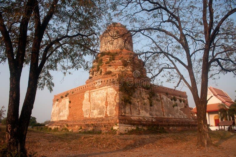 Wat Ayothaya старая цивилизация Сиама Ayutthaya стоковая фотография rf