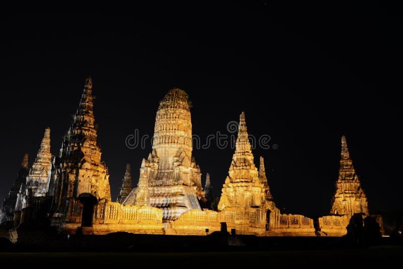 Wat in ayutthaya. Ancient temples in Ayutthaya, Thailand royalty free stock photos