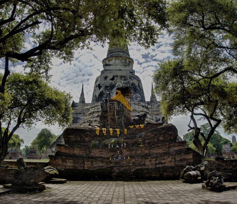 Wat in Ayutthaya Thailand Azië royalty-vrije stock afbeelding