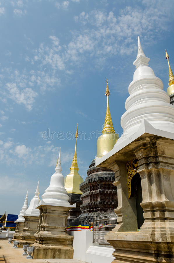 Wat Baan Den, templo de Chiang Mai Thailand foto de stock royalty free