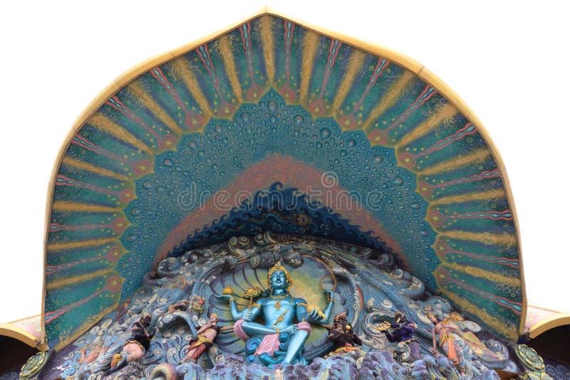 Wat Ban Rai murale buddista immagini stock