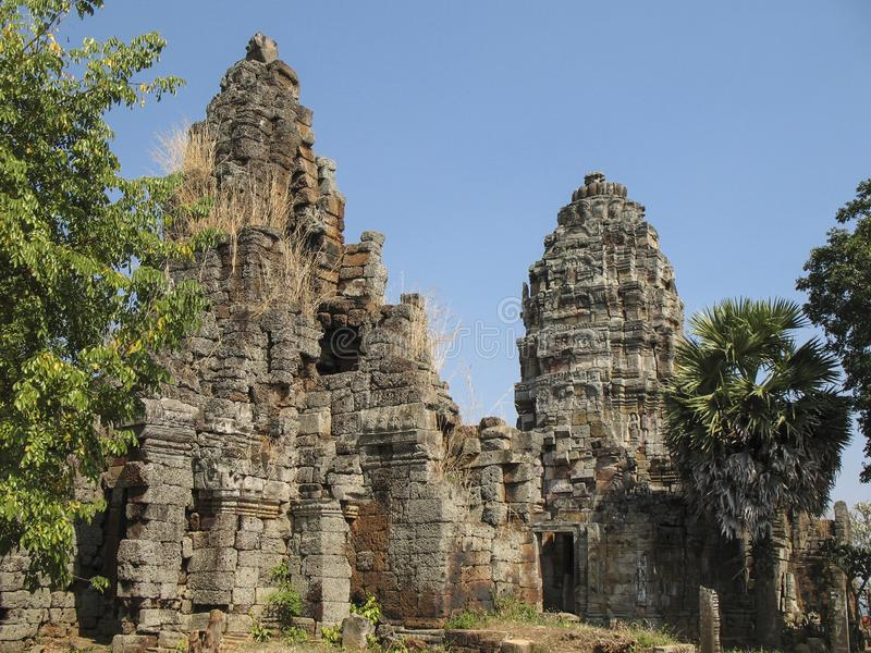 Wat Banan near Battambang, Cambodia. Remains of the Wat Banan Buddhist temple near Battambang, Cambodia stock image
