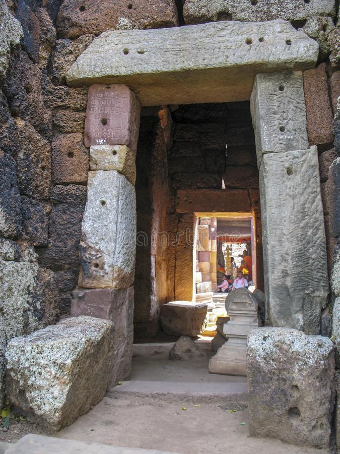 Wat Banan near Battambang, Cambodia. Remains of the Wat Banan Buddhist temple near Battambang, Cambodia royalty free stock images