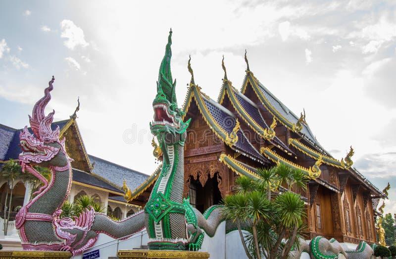 Inthakhin Subdistrict,Mae Taeng District,Chiang Mai Province,Northern Thailand on November 20,2017:Beautiful arts and architecture. Wat Bandensali Si Mueang Kaen stock image