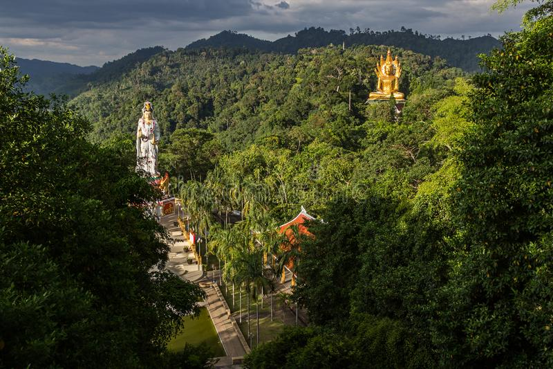 Wat Bang Riang en Tailandia, Asia foto de archivo