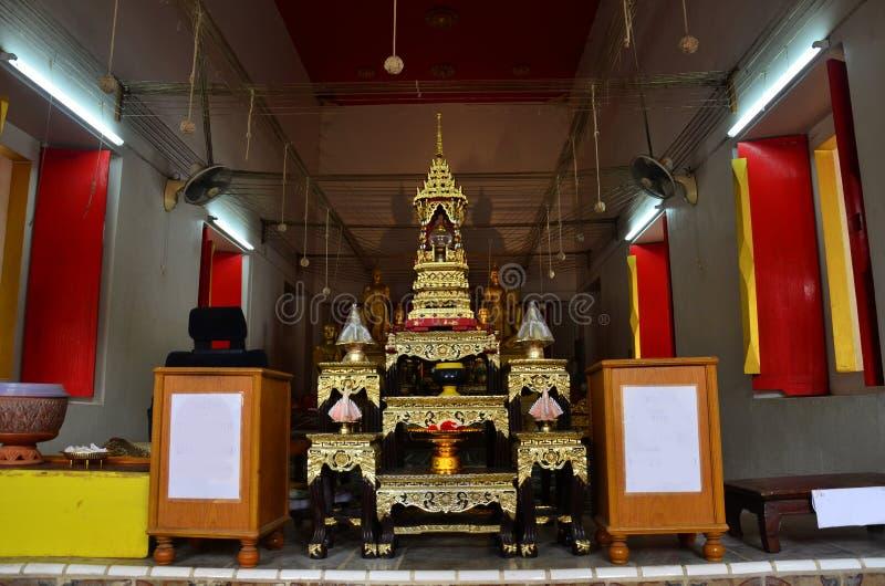 Wat Bangchak i Ko Kret, Pakkred, Nonthaburi, Thailand. royaltyfri bild