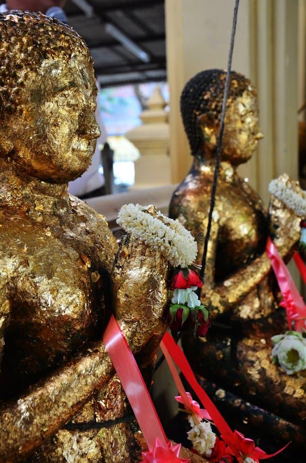 Wat Bangchak i Ko Kret, Pakkred, Nonthaburi, Thailand. royaltyfri foto