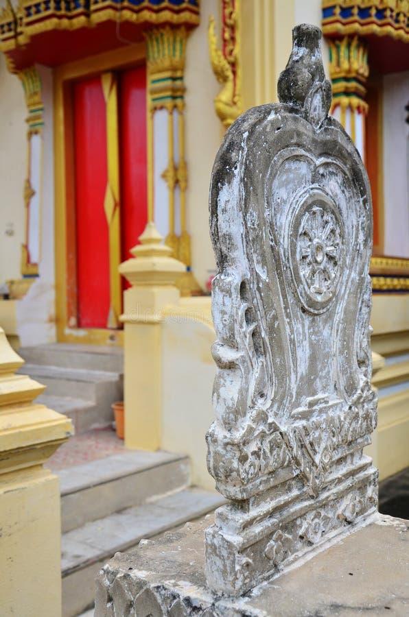 Wat Bangchak i Ko Kret, Pakkred, Nonthaburi, Thailand. royaltyfria foton