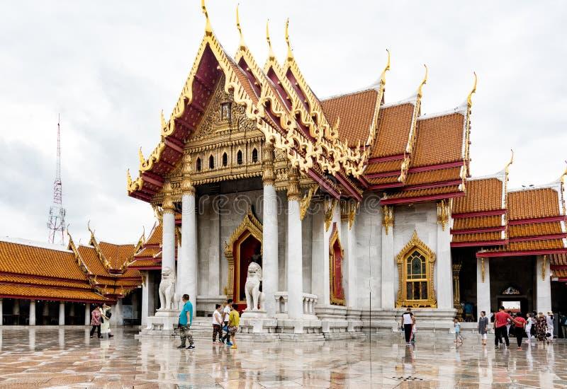 Wat Benchamabophit, ο μαρμάρινος ναός Μπανγκόκ στοκ φωτογραφία με δικαίωμα ελεύθερης χρήσης