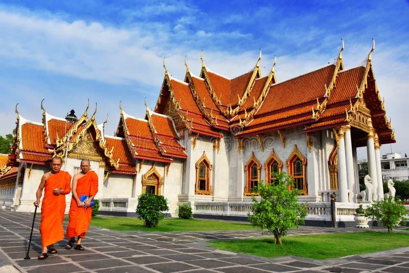 Wat Benchamabophit ή ο μαρμάρινος ναός στη Μπανγκόκ, Ταϊλάνδη στοκ εικόνα