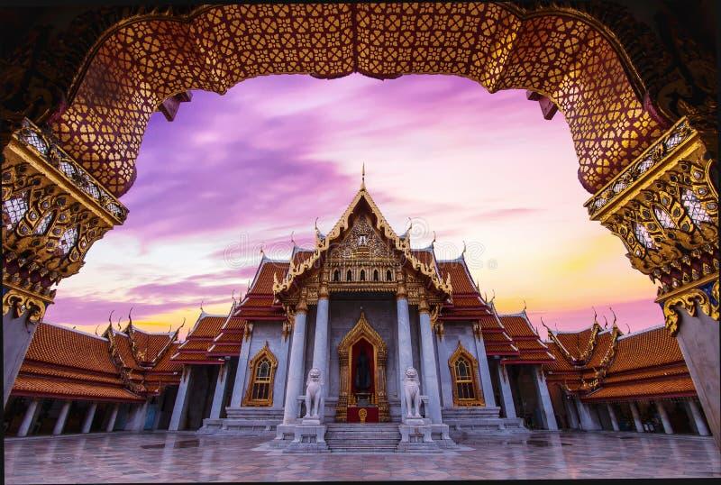 Wat Benchamabophit in Bangkok Thailand royalty-vrije stock afbeeldingen
