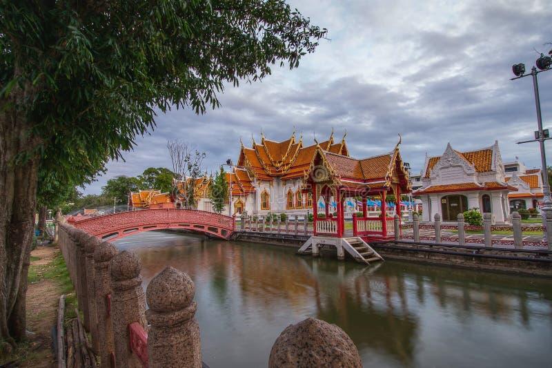 Wat Benchamabophit in Bangkok Thailand royalty-vrije stock fotografie