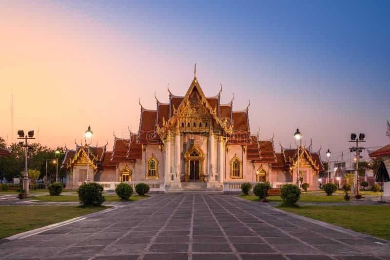 Wat Benchamabophit Dusitvanaram Tempel in Bangkok, Thailand stockbild