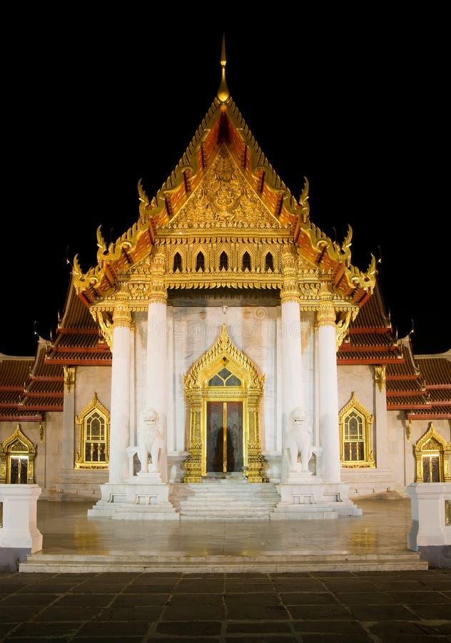 Wat Benchamabophit en Bangkok, Tailandia fotografía de archivo