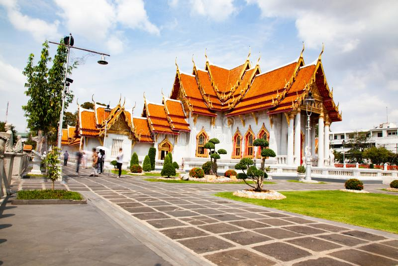 wat Benchamabopit, der Marmortempel, Bangkok, Thailand lizenzfreie stockfotografie