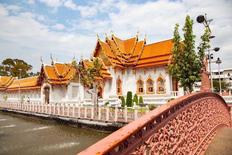 wat Benchamabopit, der Marmortempel, Bangkok, Thailand lizenzfreie stockbilder