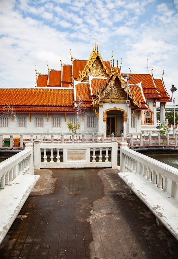 wat Benchamabopit, der Marmortempel, Bangkok, Thailand stockbilder