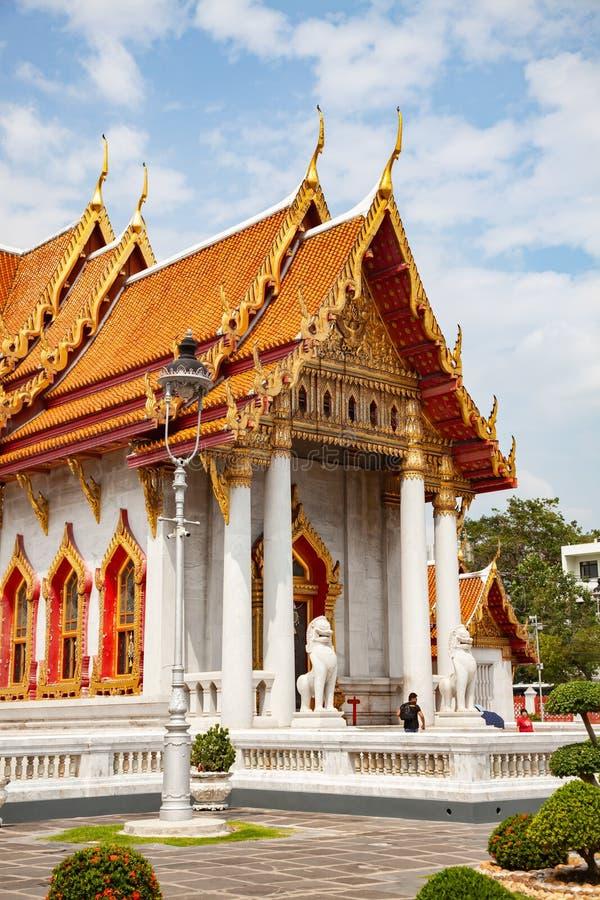 wat Benchamabopit, le temple de marbre, Bangkok, Thaïlande images libres de droits