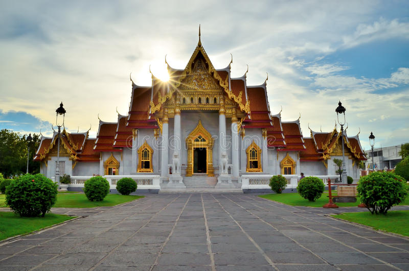 Wat Benjamabopit Dusitwanaram royalty-vrije stock afbeeldingen