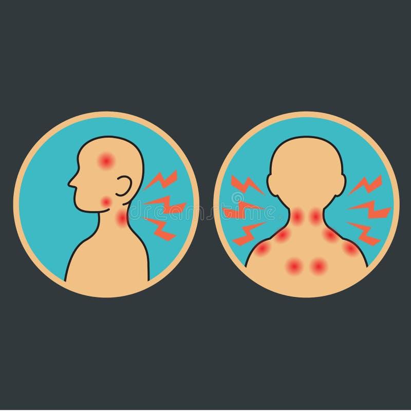 Wat betreft het lichaam stock illustratie