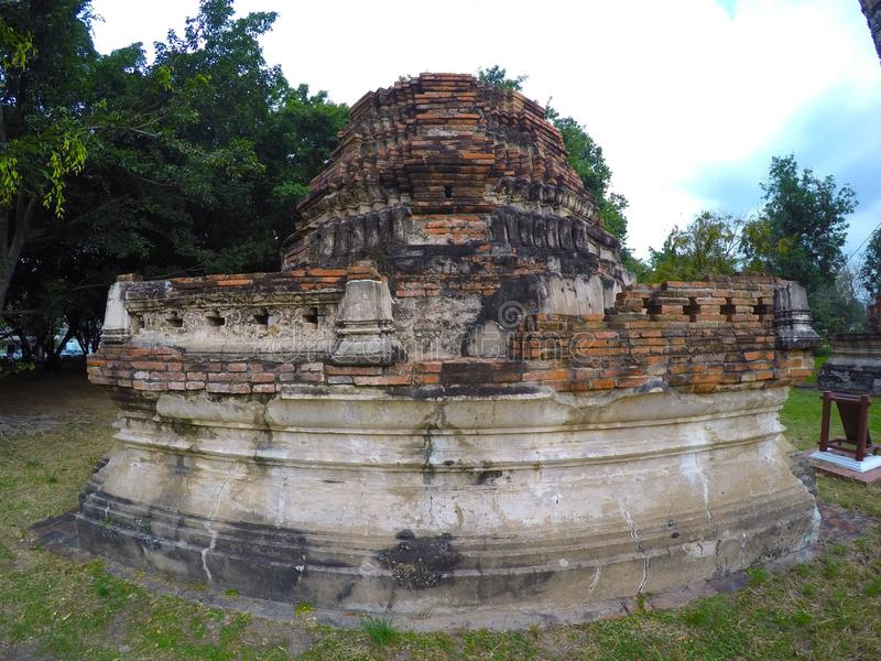 Wat Bora Phuttharam w Ayutthaya, Tajlandia fotografia stock
