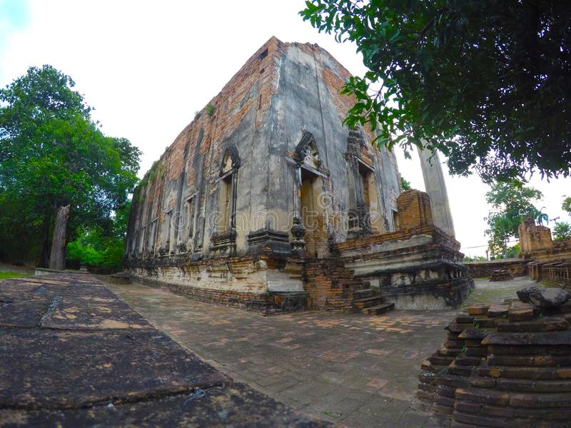 Wat Borom Phuttharam in Ayutthaya, Thailand stockbilder