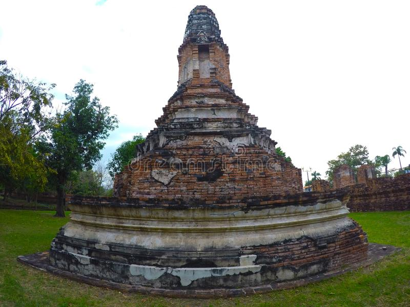 Wat Borom Phuttharam in Ayutthaya, Thailand royalty-vrije stock afbeelding