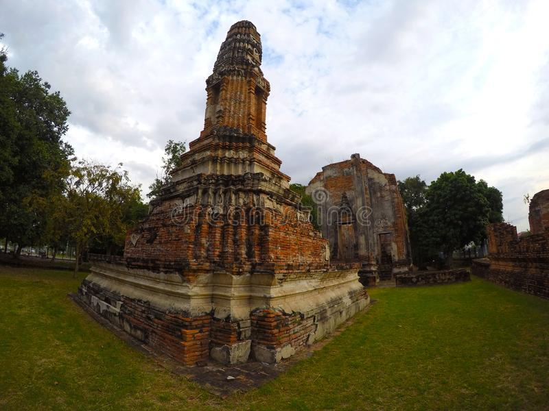 Wat Borom Phuttharam in Ayutthaya, Thailand royalty-vrije stock fotografie