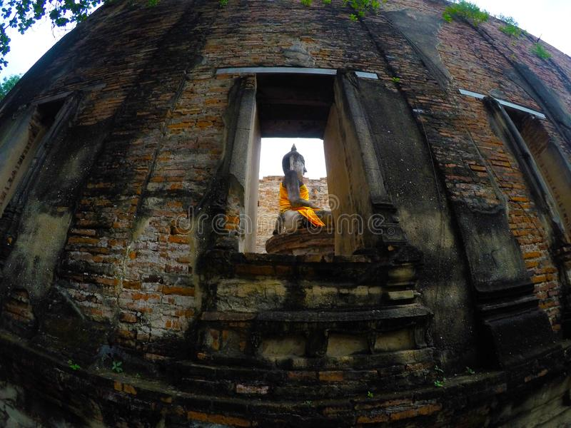 Wat Borom Phuttharam in Ayutthaya, Thailand lizenzfreies stockbild