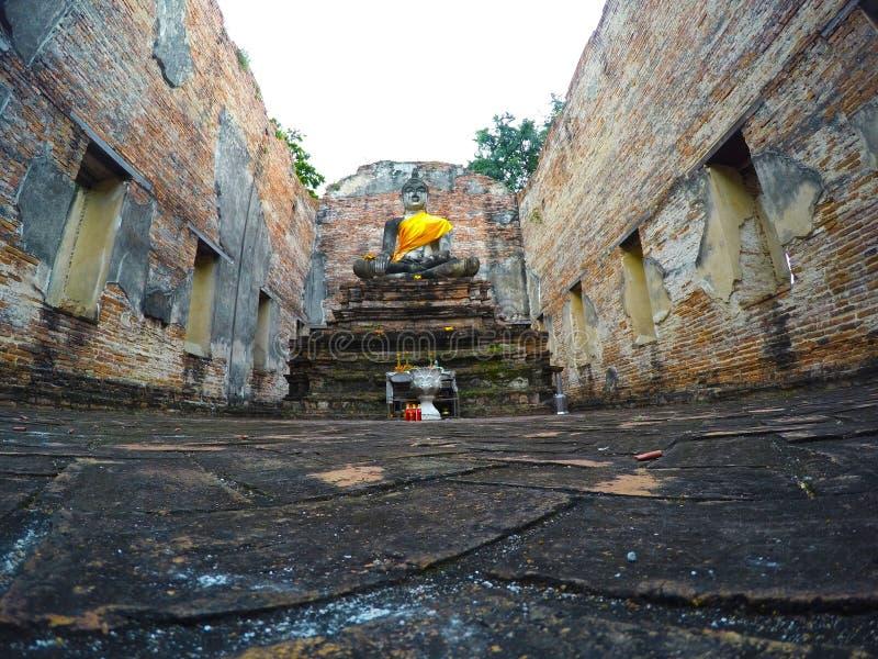 Wat Borom Phuttharam in Ayutthaya, Thailand stock afbeelding