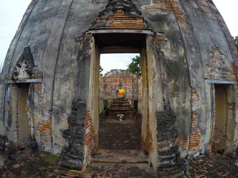 Wat Borom Phuttharam in Ayutthaya, Thailand royalty-vrije stock afbeeldingen
