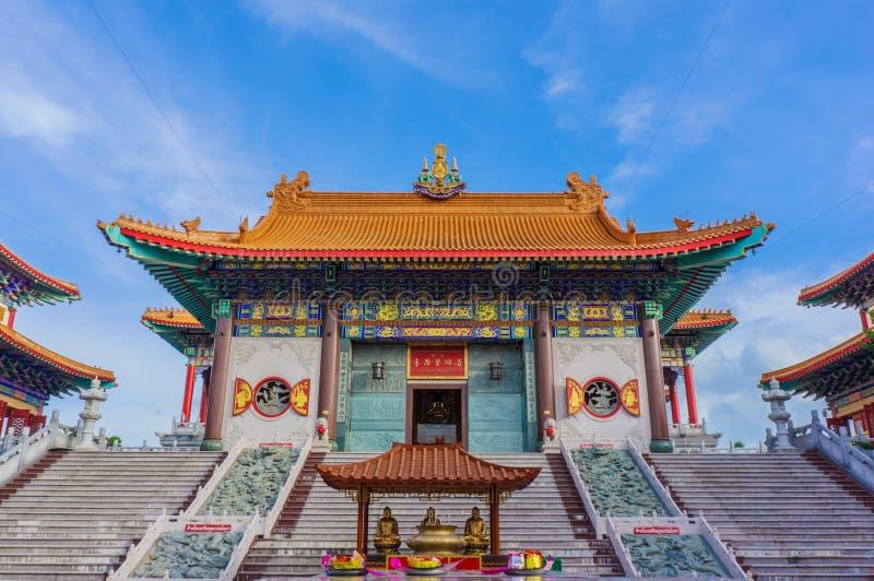 wat boromracha寺庙的整理大厅在曼谷,泰国 免版税库存照片