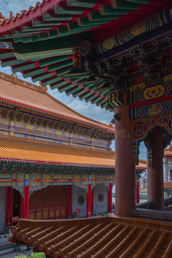 Wat Boromracha Kanchanapisek Anusorn (Leng Noei Yi 2) stockfotos