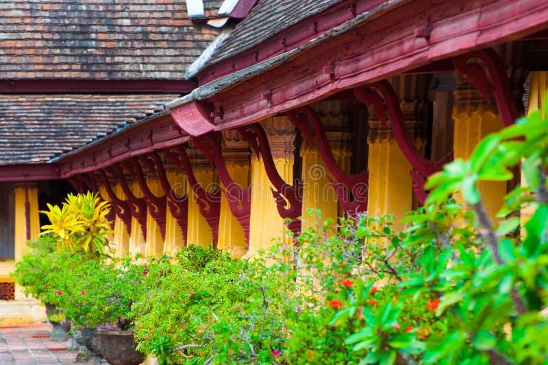 Wat buddista Sisaket a Vientiane, Laos fotografie stock libere da diritti