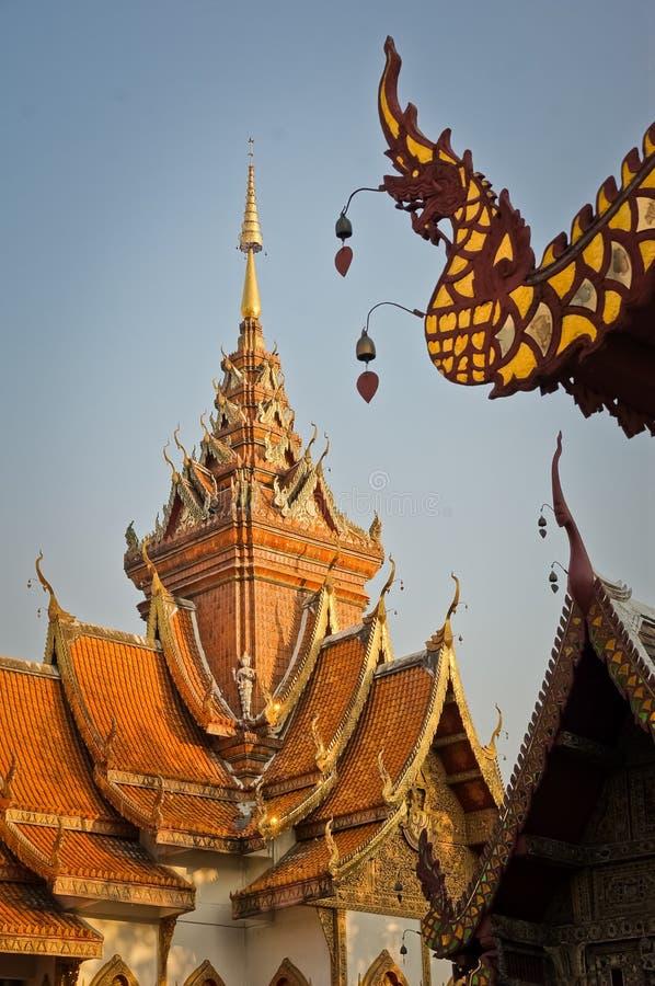 Wat Buppharam temple stock image