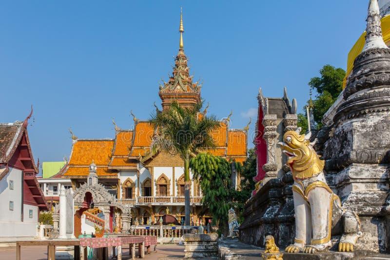 Wat Buppharam temple in Chiang Mai stock images
