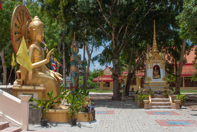 Wat Chaeng, tempio di Naton, Samui, Tailandia immagine stock
