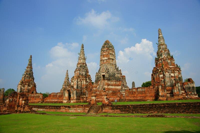 Wat Chai Wattanaram, Ayutthaya, Thailand. Wat Chai Wattanaram buddhist temple, situated in the old capital of Thailand, Ayutthaya. Built in 1630 in the Khmer royalty free stock images