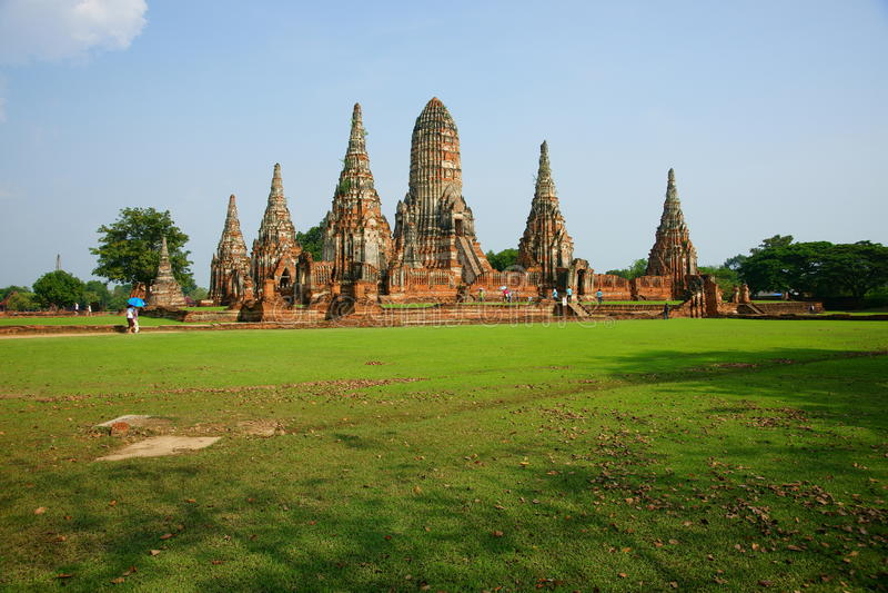 Wat Chai Wattanaram, Ayutthaya, Thailand. royalty-vrije stock foto