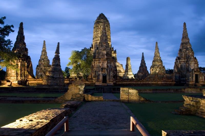 Wat Chai Watthanaram immagini stock
