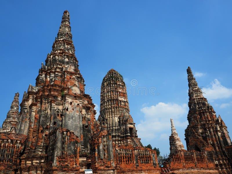 Chai Watthanaram Temple in Ayuthaya Historical Park royalty free stock image