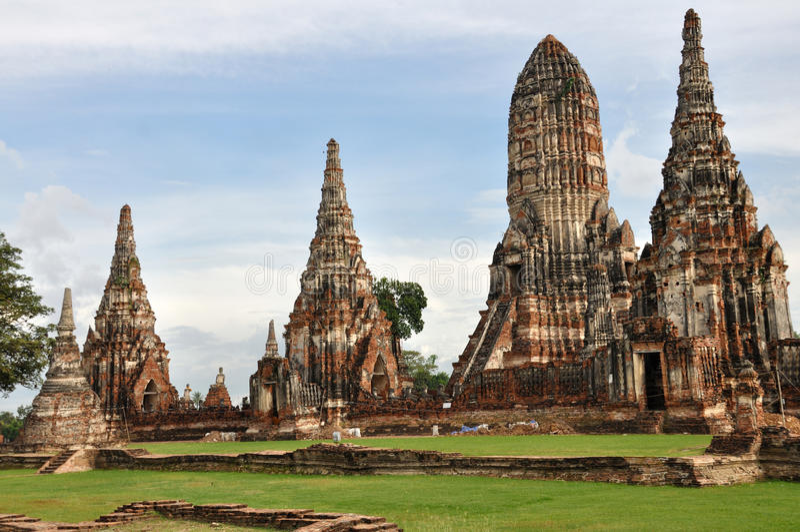 Wat Chai Wattnaharam fotografia de stock royalty free