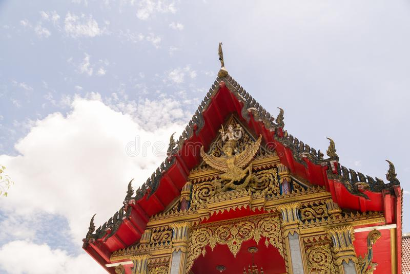 WAT CHAITHARAM of Wat Chalong-TEMPEL in Phuket, Thailand, Azië royalty-vrije stock foto