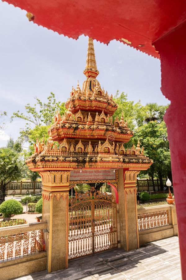 WAT CHAITHARAM of Wat Chalong-TEMPEL in Phuket, Thailand, Azië royalty-vrije stock afbeelding