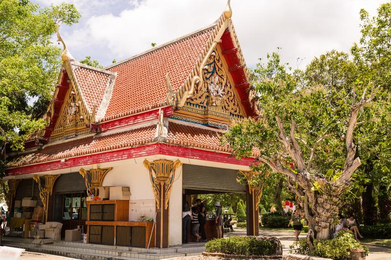 WAT CHAITHARAM of Wat Chalong-TEMPEL in Phuket, Thailand, Azië stock afbeelding
