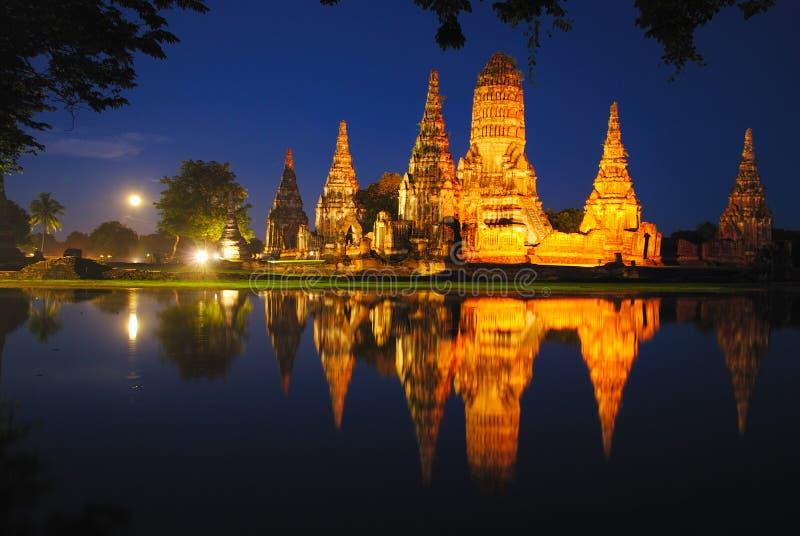 Wat Chaiwattanaram obrazy royalty free